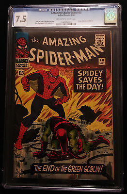 1966 Marvel Amazing Spider-Man #40 CGC 7.5 Off White to White Pages