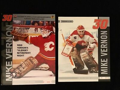 2006 Nhl Calgary Flames Mike Vernon Retirement Night Commemorative Programs
