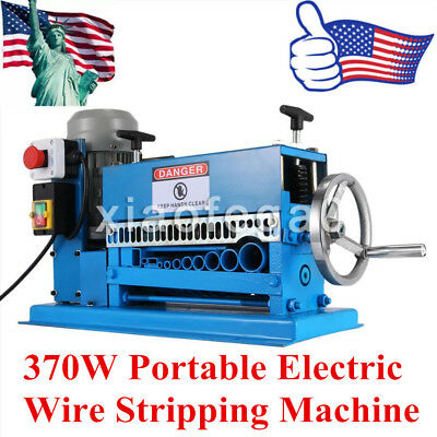 370W 220V Powered 10 Blades Metal Cable Portable Electric Wire Stripping Machine