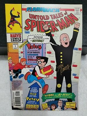 Marvel Comics Wizard Authentic Untold Tales Of Spider-Man #1 Variant Signed COA