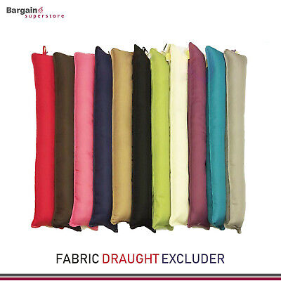 Fabric Draft Draught Excluder Insulator Soft Cushion Door Window Hallway x 1/2/4