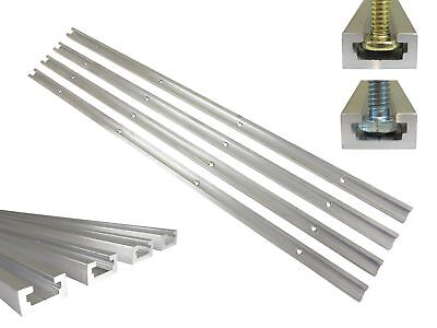 """Lot 4 Each, 36"""" Aluminum T Track 3/4"""" by 3/8"""" Slot, Accepts 1/4"""" Hex Bolt... New"""