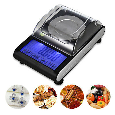 50g / 0.001g LCD Digital Milligram Scale High Precision Jewelry Balance Weight