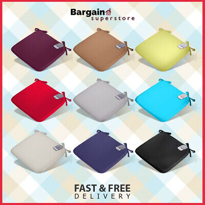 Tie On Chair Seat Pads Kitchen Seat Cushions Dining Garden Patio (1/2/4/6 Pack)