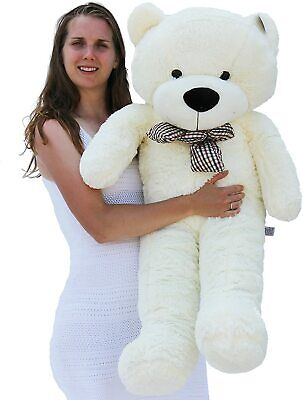 "Joyfay® Teddy Bear CE 47"" 120cm White Large Giant Plush Toy Valentine Gift"