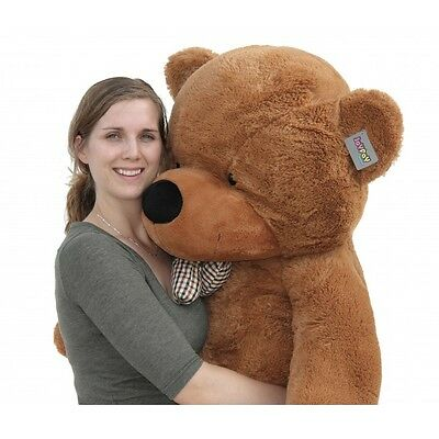 "Joyfay Teddy Bear Large Plush Toy CE Giant 63"" 160cm Dark Brown Valentine Gift"