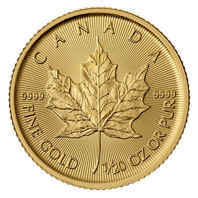 1/20 Oz Maple Leaf Gold 2018 zwanzigstel Unze Goldmünze Royal Canadian Mint 9999