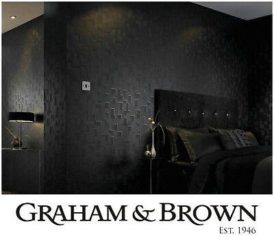New Graham and Brown Checker Black Removable Wallpaper Geometric Residential