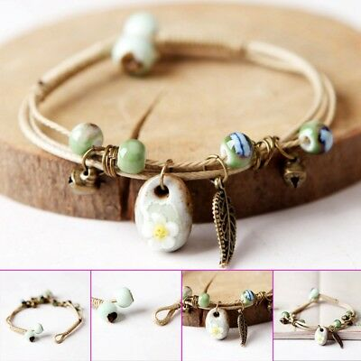 Fashion Delicate Hand-Woven Ceramic Beads Bracelet Originality Chinese