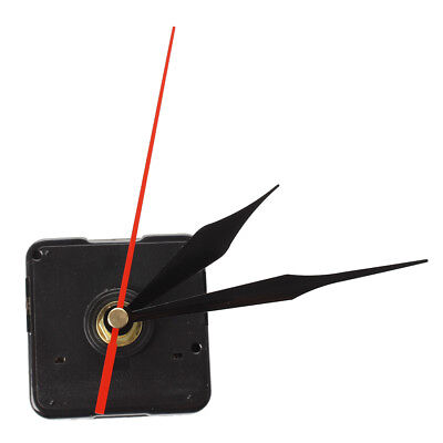 Quartz clock Movement Mechanism 3 Black + Red Needle DIY Repair SS
