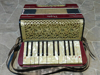rare historic PERFEKTA piano ACCORDION 25/12 Akkordeon accordian Germany ~1930
