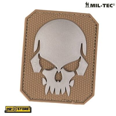 Patch in PVC SKULL Teschio Punisher 5,5 x 4 cm Militare Softair Velcrata CY - GY