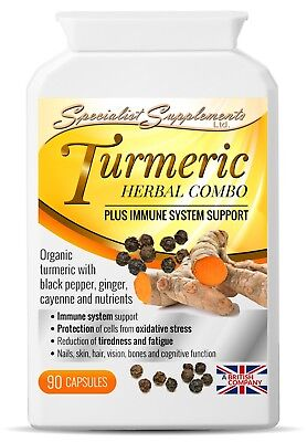 Turmeric Herbal Combo x 90 Caps; Immune, Bones, Joints; Specialist Supplements