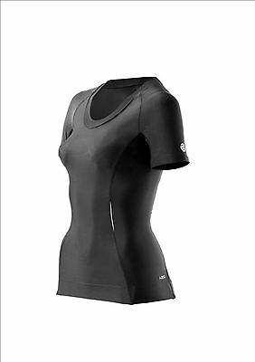 NEW Skins Womens Active A200 Compression Short Sleeve Top Black M RRP$84.99