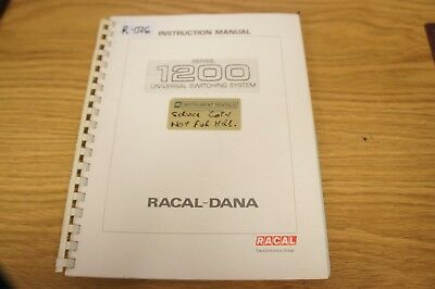 Racal 1200 Universal Switiching System Instruction Manual Loc: R-026