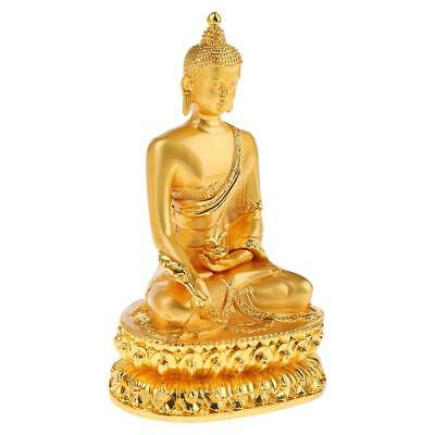 Alloy Buddhism Buddha Statue Figurine House Office Luky Ornament Decoration