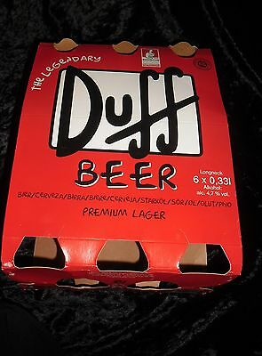 Packaging For 6 Pack Duff Beer Good Condition,collectable,simpsons