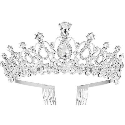 FRCOLOR Wedding Tiara Crystal Rhinestones Tiara Crown with Comb Pageant P... New