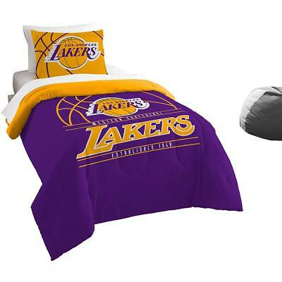 The Northwest Company Los Angeles Lakers Reverse Slam Twin Comforter & Sham Set
