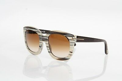 d694f009d933d Tom Ford Christophe Tf279 25F Brown Ivory Black Square Style Sunglasses