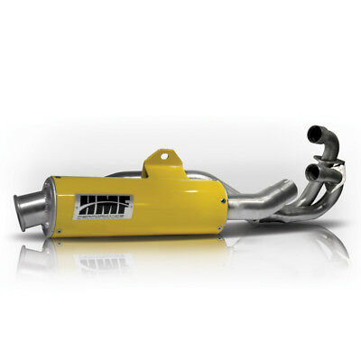 HMF Performance Exhaust Dual Slip On Yellow Can-Am Maverick 13-14
