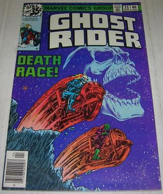 GHOST RIDER #35 (Marvel Comics 1979) Classic DEATH RACE story by Starlin (VF-)