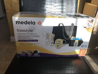 Medela Freestyle Double Electric Breastpump Set Deluxe Used Sterilized