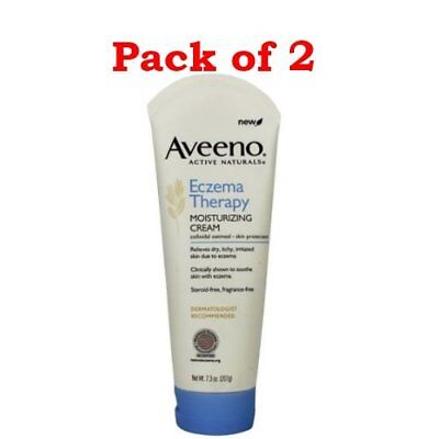 Aveeno Active Naturals Eczema Therapy Moisturizing Cream,7.3 Ounce PACK OF 2