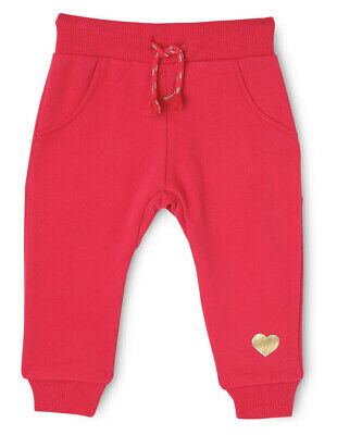 NEW Sprout Girls Essential Trackpant - Raspberry / Foil Heart