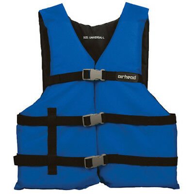 Airhead Adult Open Sided Nylon Life Jacket Blue L-2XL