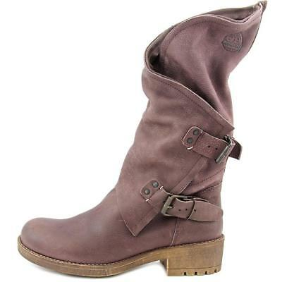 a504b58928c1 Coolway Womens Alida Buckle Round Toe Leather Mid Calf Boot Size EU 36 US 5