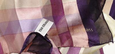 "~Vintage Bill Blass Silk Scarf Long Sheer Mauve & Beige 54"" X 13""~"