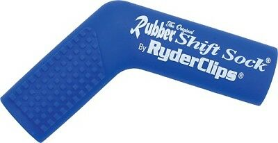 Ryder Clips Rubber Motorcycle Shift Sock Shifter Cover Blue