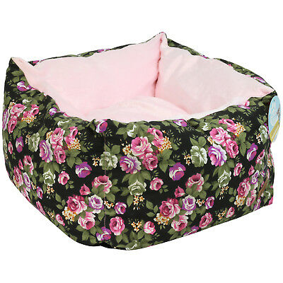 Me & My Pets Small Pink Cat/kitten/puppy/dog Snuggle Bed Cosy Soft Girly Flower