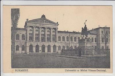 AK Bucuresti, Bukarest, Universität, Viteasu-Denkmal 1910