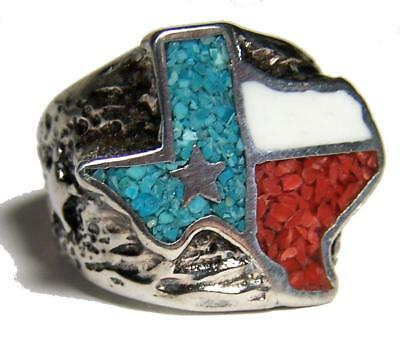 Quality STATE OF TEXAS LONE STAR SILVER RING BR84R jewelry RINGS mens  womens