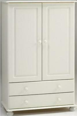 Richmond white 2 door 2 drawer bedroom solid spacious furniture combi wardrobe