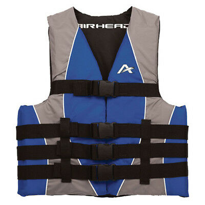 Airhead Adult Closed Sided Nylon Life Jacket Blue L-XL