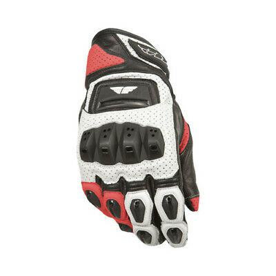 Fly Street ADULT Motorcycle FL2-S Gloves Wht/Red Gloves Size 2XL