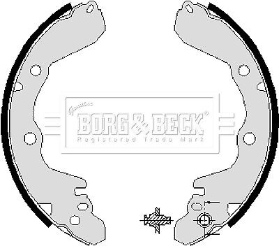 Brake Shoes BS686 Quinton Hazell Set 1605591 1605594 1605690 1605734 1605773 New