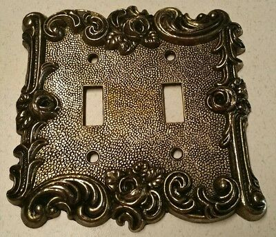 Vintage 1967 American tack & hardware Co.Double light switch wall plate rose 3D