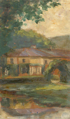 W.N.H - Signed Early 20th Century Oil, Summer Landscape with Garden