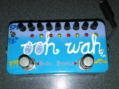 ZVEX Ooh wah handpainted with mod plate