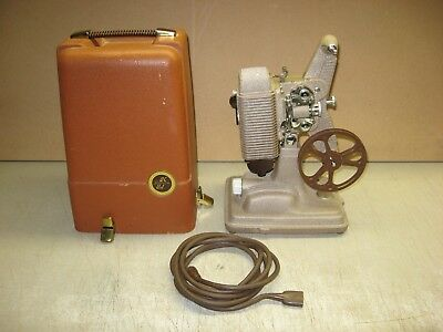VINTAGE REVERE MODEL 85 8mm MOVIE FILM PROJECTOR WITH CASE TESTED WORKS GREAT