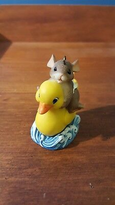 Charming Tails Baby Mouse and Duck Figurine Ornament