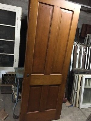 "Old 1920S Farmhouse Interior Door Old Spanish Style Beadboard 30""x79-1/2"""