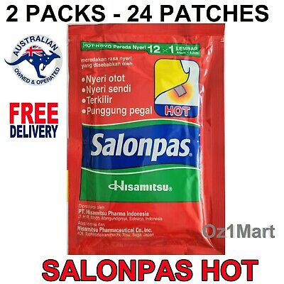 24 Patches Salonpas Hot Hisamitsu Muscle Pain Reliefing Patch