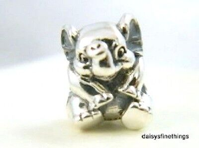 New/tags Authentic Pandora Silver Charm  Lucky Elephant #791902  Retired