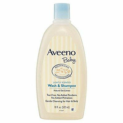 Aveeno Baby Wash & Shampoo with Natural Oat Extract 18-Ounce (Pack of 3)