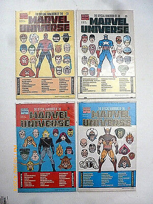 Official Handbook Of The Marvel Universe #1-4 Comic Book Set! New!